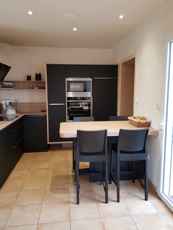 Cuisine En Stratifi 233 Noir Atelier Du Bocage