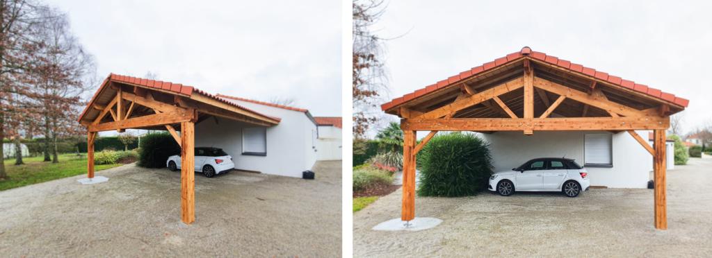 Carport en bois de 48m²